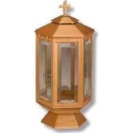 Καντήλι Μνημείου Αλουμινιο Εξάπλευρο Κρύσταλλο σε Μπρονζέ Ματ